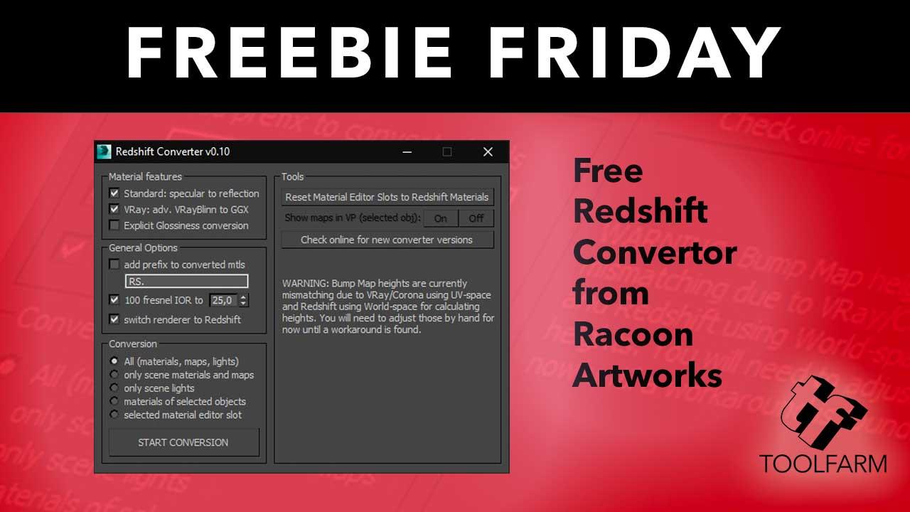 Free: Redshift Converter v0 18 from Racoon Artworks - Toolfarm