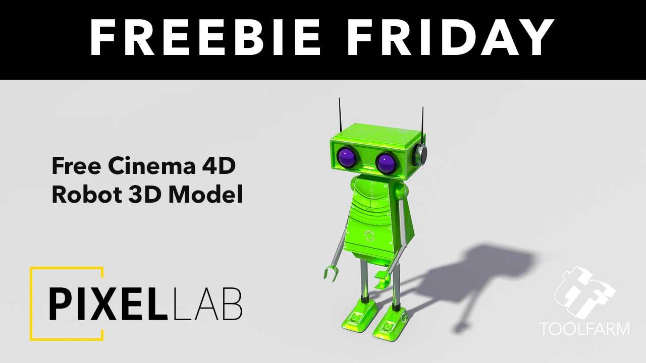 Freebie Friday: Free Robot Model for Cinema 4D - Toolfarm
