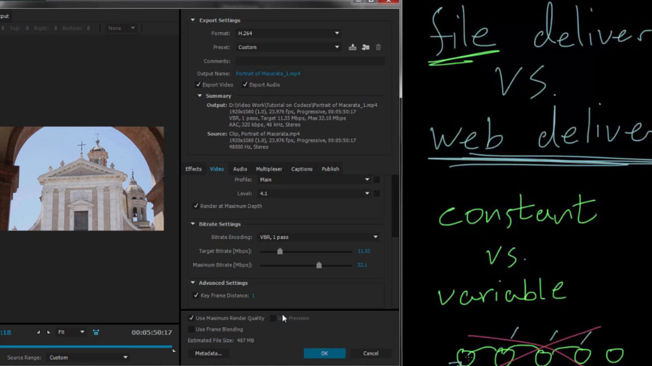Exporting and Rendering! Tips and Settings for Adobe Media Encoder