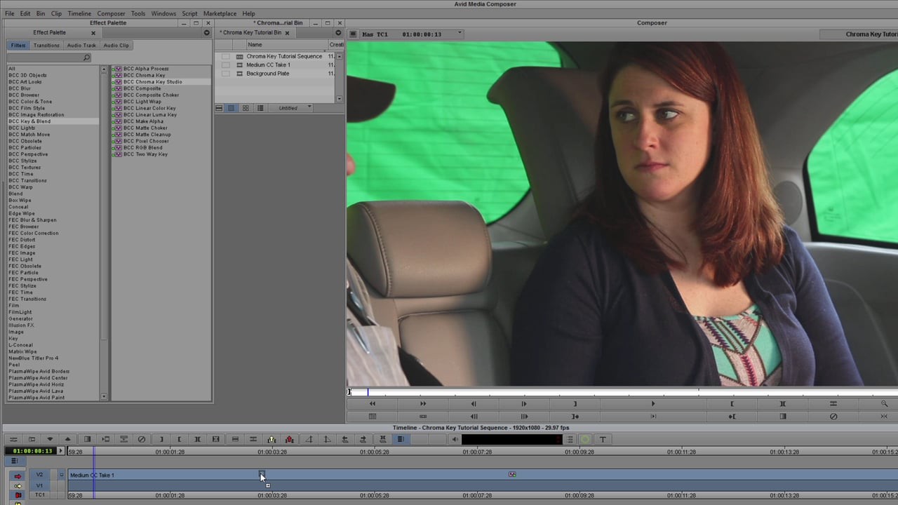Working with Tough Keys in Avid with BCC Chroma Key Studio