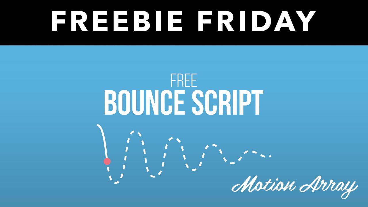 FreebieAE: Free Script Creates Easy Inertia in After Effects