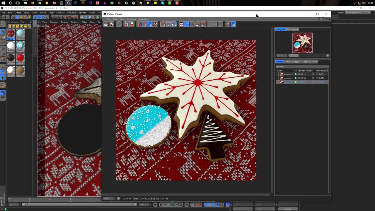 Cinema 4D: Christmas Cookies in CINEMA 4D - Toolfarm