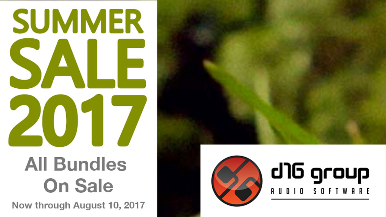 Sale: D16 Group Audio Software Summer Sale - Now through