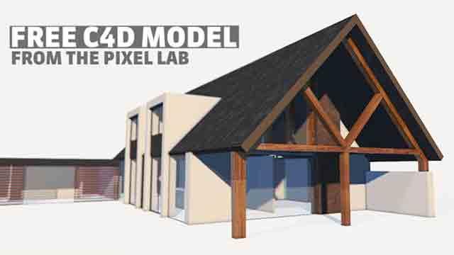 Freebie: Cinema 4D: Modern House Model - Toolfarm
