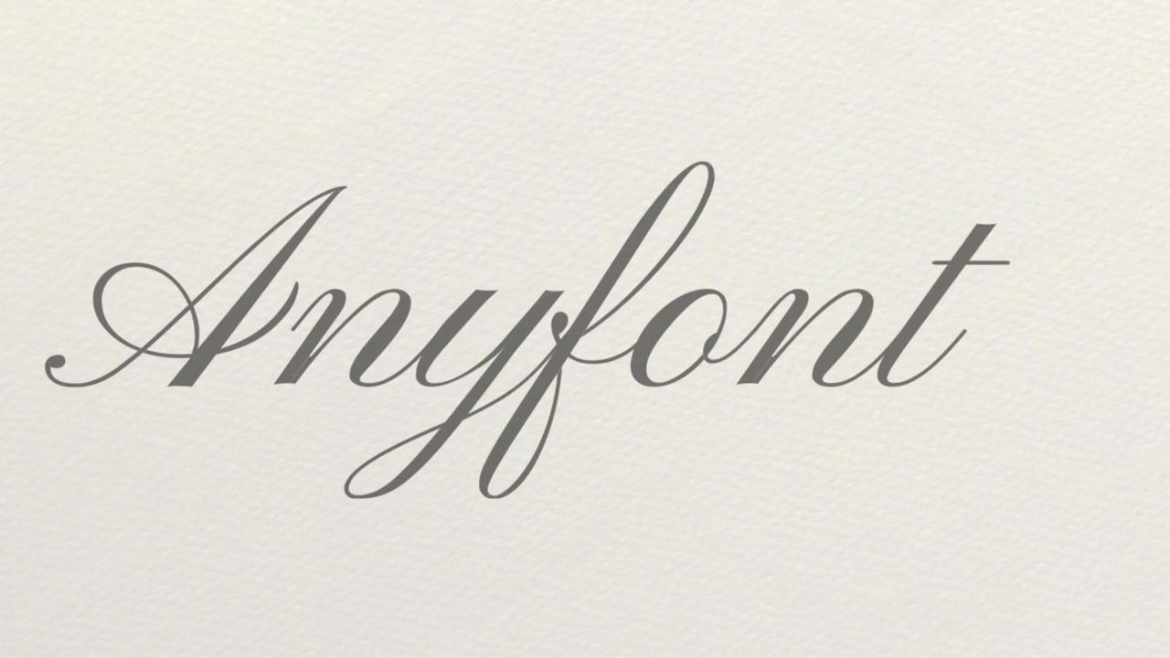 Anyfont 2D Animated Handwriting Script Tutorial