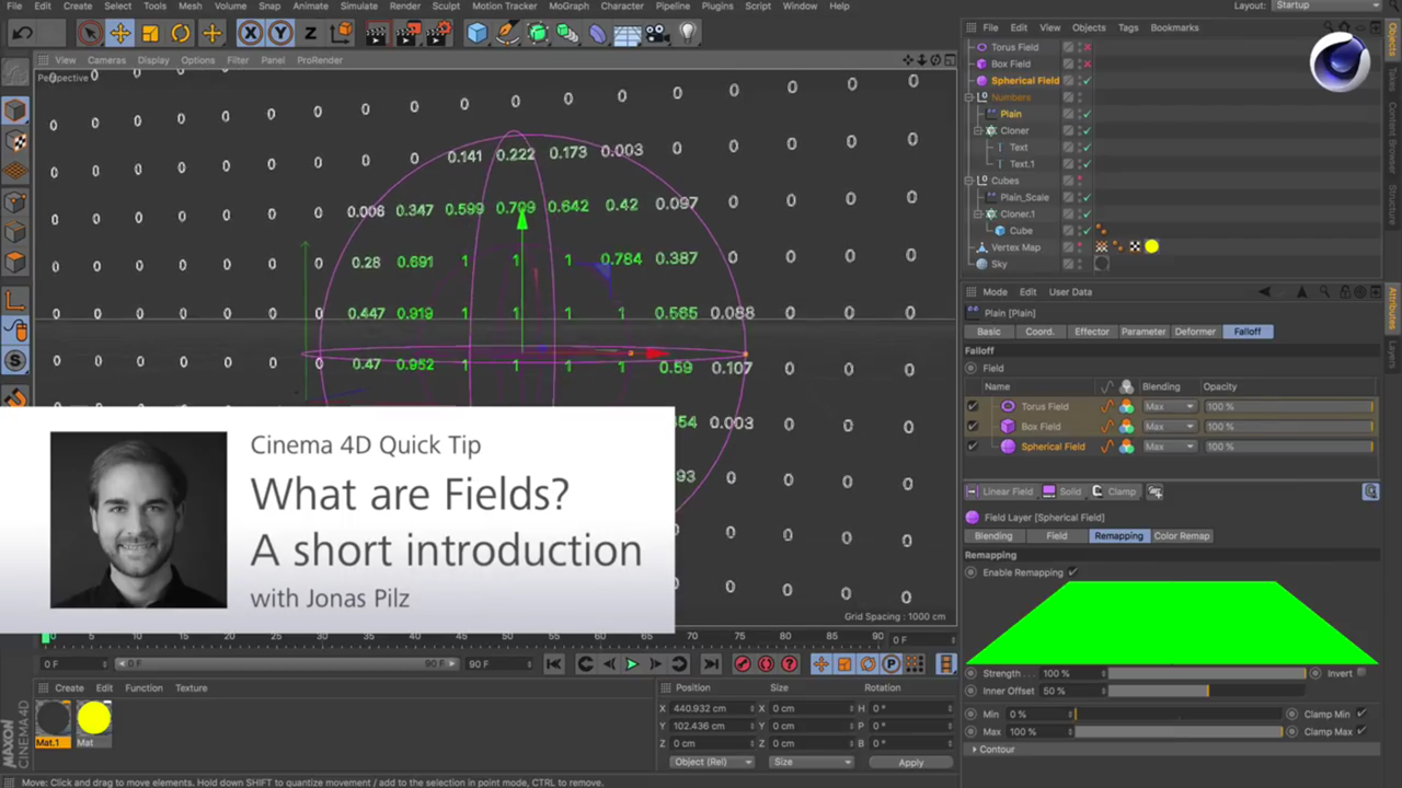 Cinema 4D R20: Falloffs vs. Fields – What They Are and How They Work