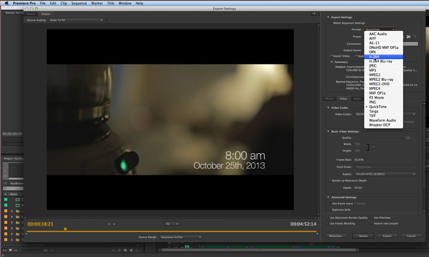 Exporting Video From Premiere Pro