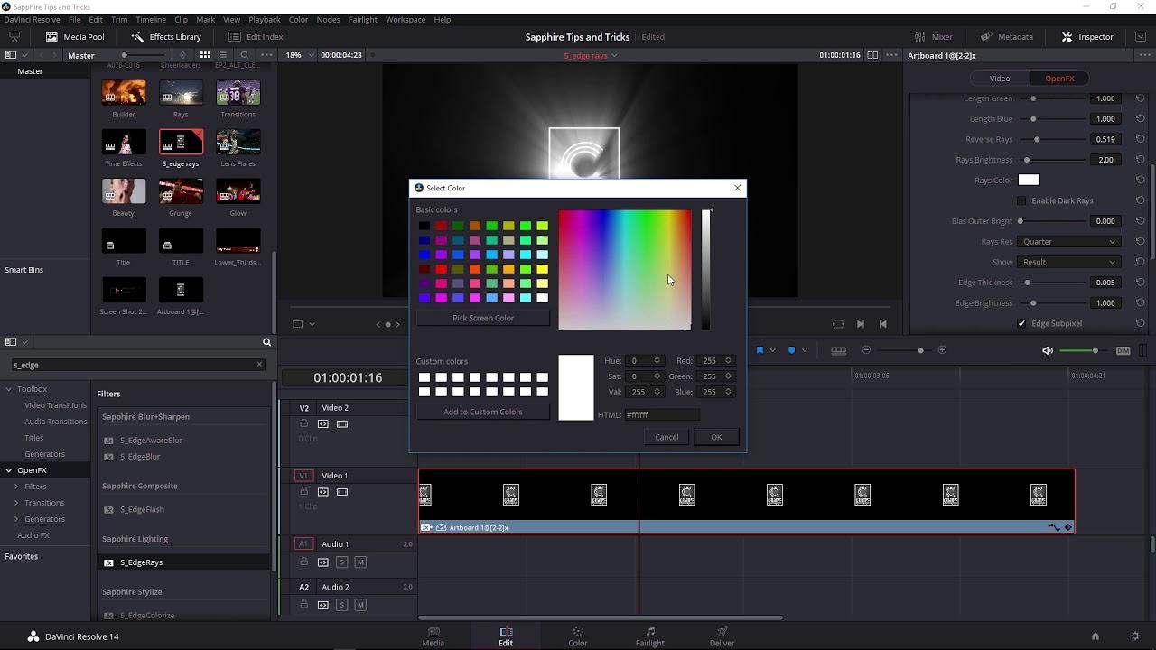 Create Beautiful Volumetric Lighting in Davinci Resolve with Sapphire EdgeRays