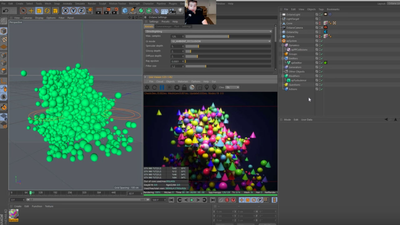 Working With Octane's Random Color Shader and X-Particles