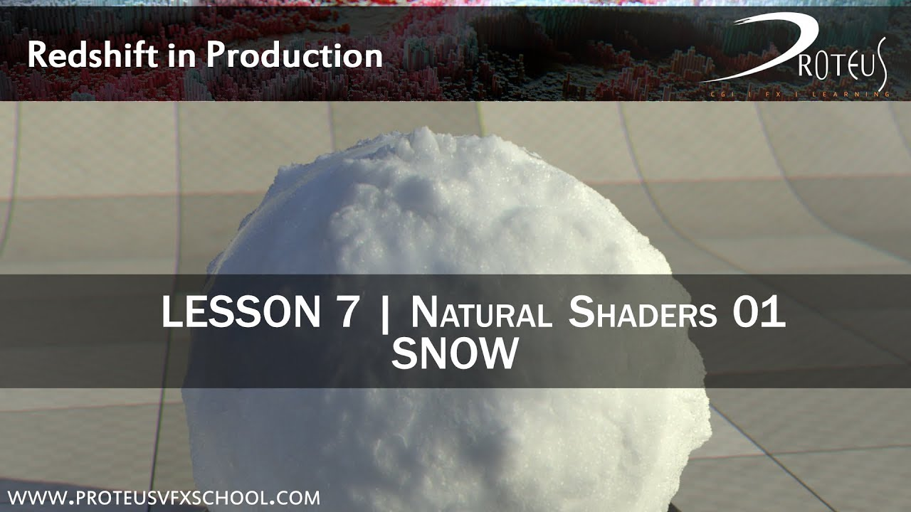 Creating a Snow Shader with Redshift and Autodesk 3ds Max