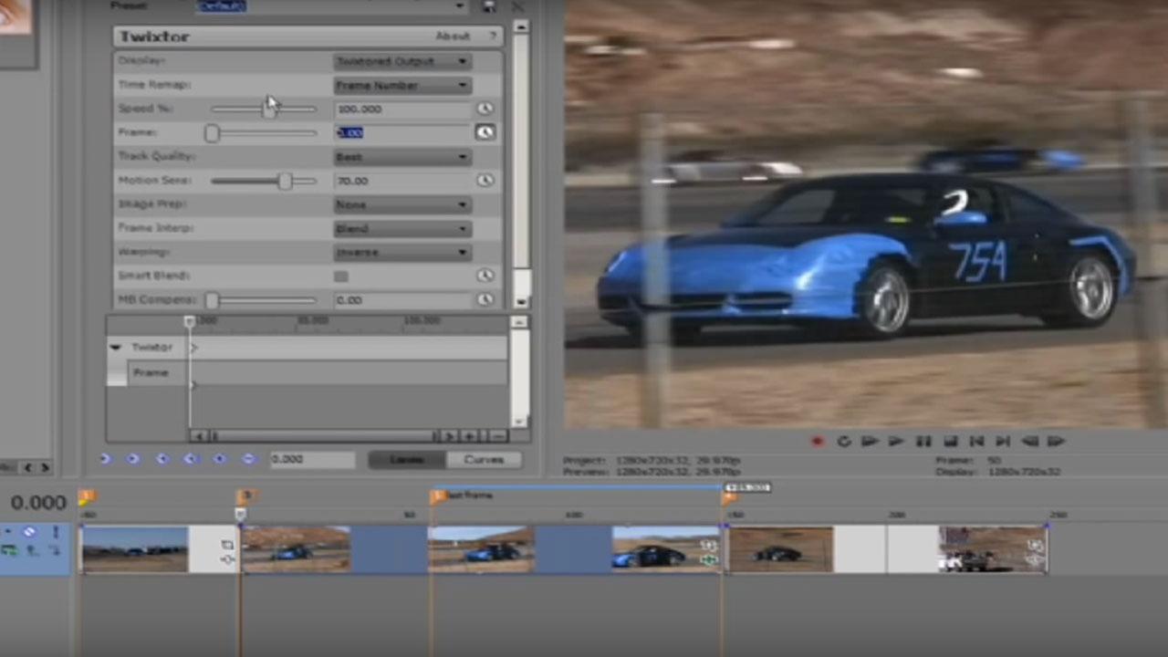 Twixtor – Working with Edits in Sony Vegas