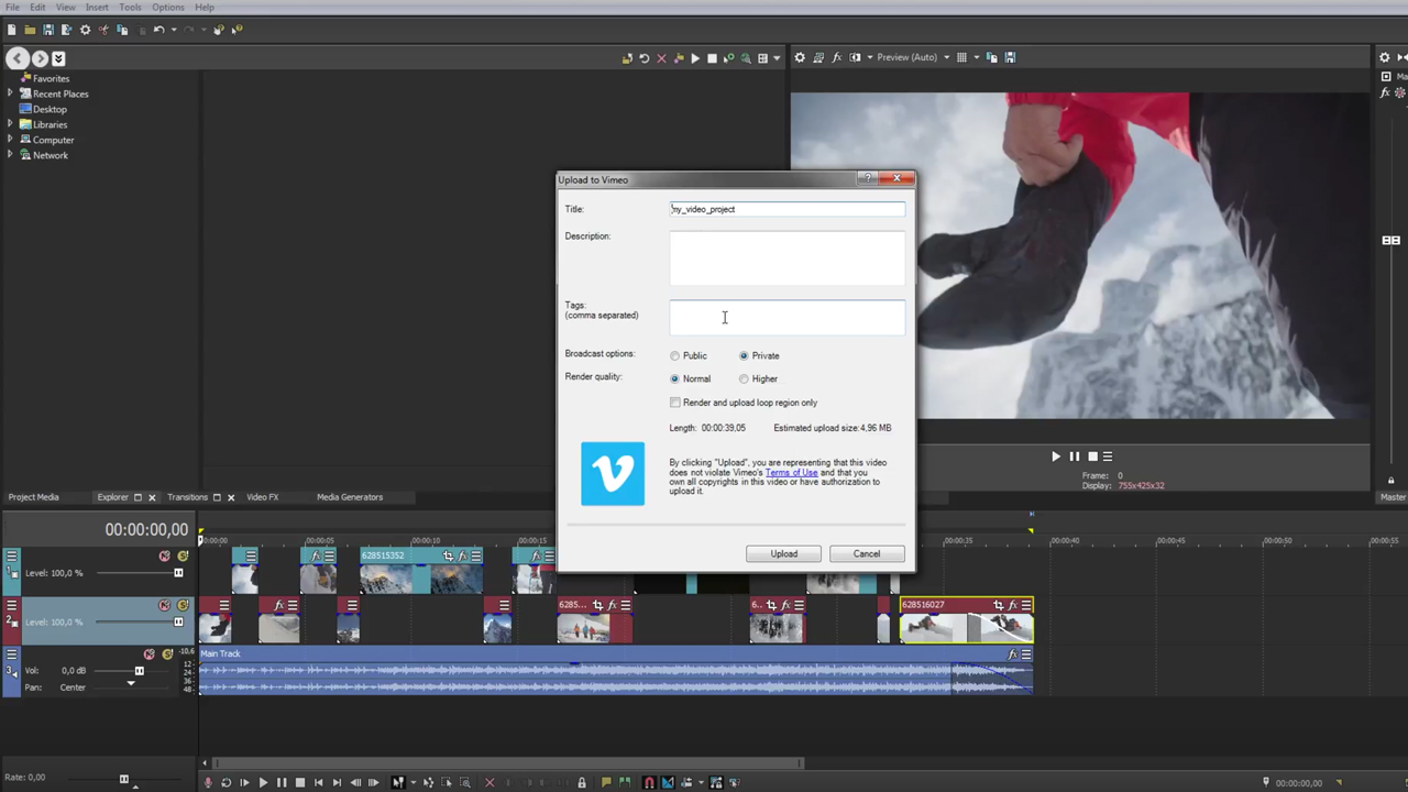 Vegas Pro: Publishing Your Project to Social Media