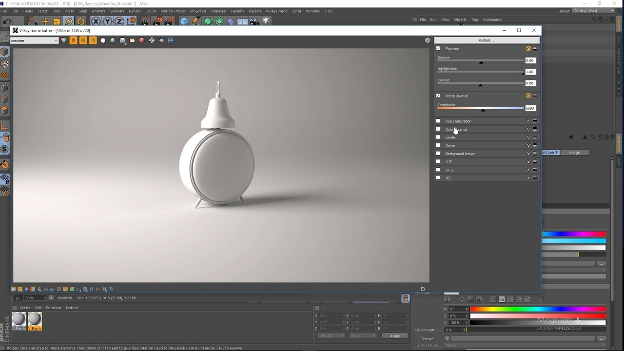 Intro to V-Ray 3.4 for C4D